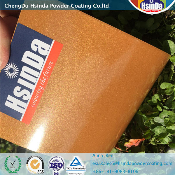 Metallic Orange glittering powder coating