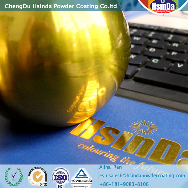 gold powder coat aluminium powder coating