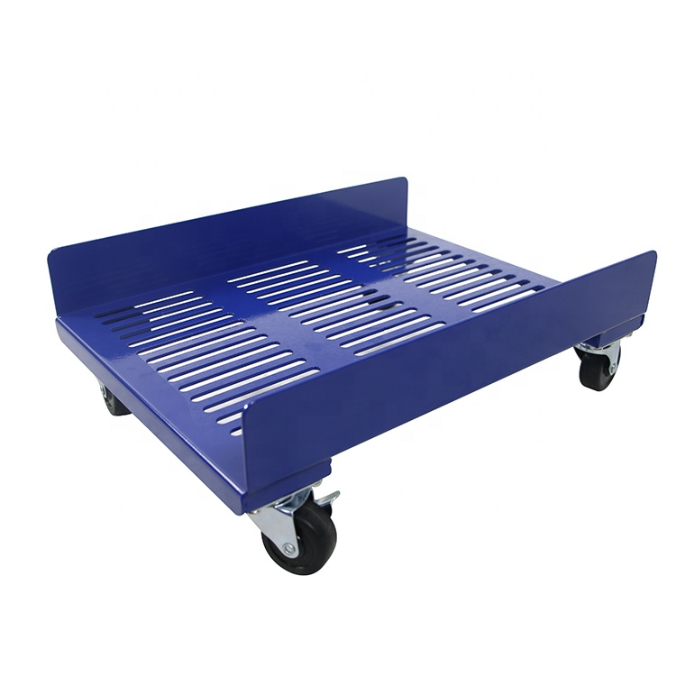 Outdoor and indoor metal Plant Caddy Heavy Duty Square Plant Roller With Lockable Caster Wheel