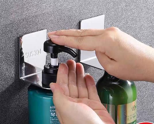 Shower Gel Bottle Rack Hook Bracket Bathroom Hand Sanitizer Dispenser Wall rack