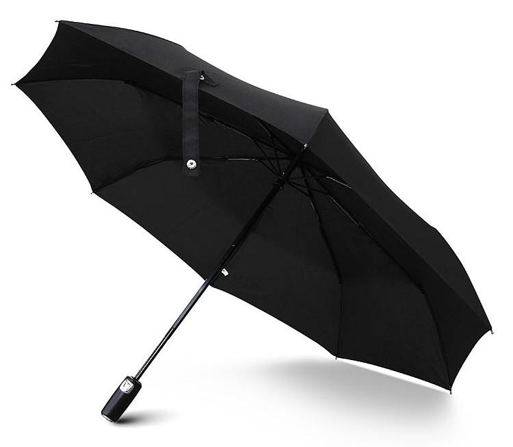 custom printed windproof upscale automatic 3 fold umbrella