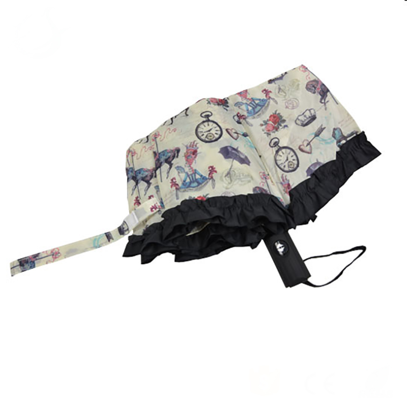New customized high quality straight umbrella with water cover